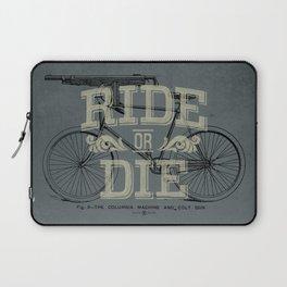 Ride Or Die Bicycle Print Laptop Sleeve