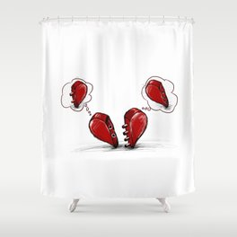 incomplete love Shower Curtain