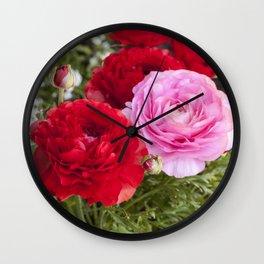 Spring Ranunculus Wall Clock