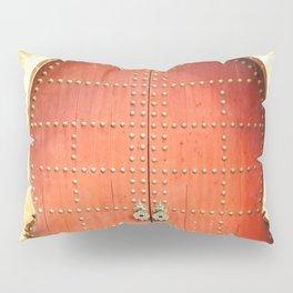 Red Morccan Door Pillow Sham