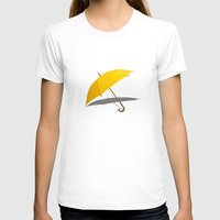 himym T-shirts featuring HIMYM - The Yellow Umbrella by George Hatzis