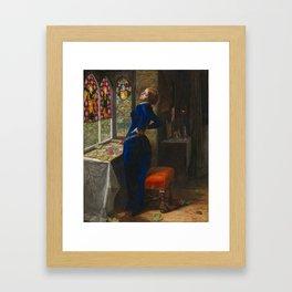 Sir John Everett Millais, Bt 1829–1896   Mariana Framed Art Print