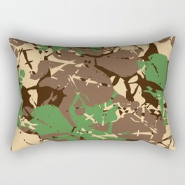 Natural style camouflage pattern Rectangular Pillow
