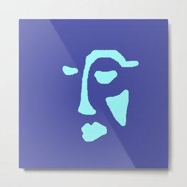 Blue Face Metal Print