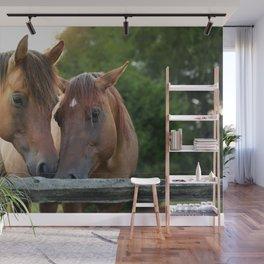 Horsey Smooches Wall Mural