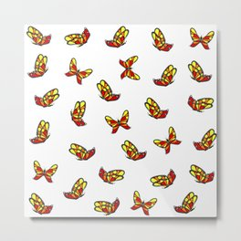 Multicolored butterflys Metal Print