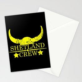 Shetland crew wild west emblem yellow Stationery Cards