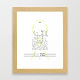 ASCII Ribbon Campaign against HTML in Mail and News – White Framed Art Print
