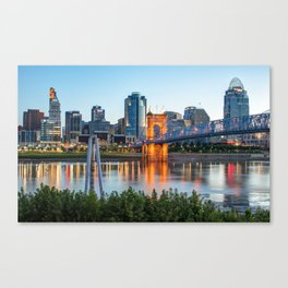 Cincinnati Skyline View Canvas Print