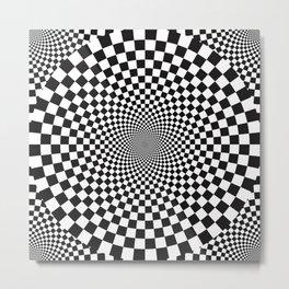 Vertigo Abstract Geometric Op Art Metal Print