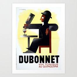 Vintage french poster Dubonnet - Cassandre Art Print