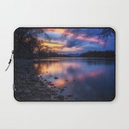 The Edge of Night sunset on the Sacramento River Laptop Sleeve