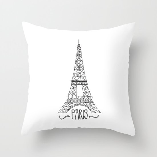 Decorative Pillows Eiffel Tower : Eiffel Tower Throw Pillow by Stacey Walker Oldham Society6