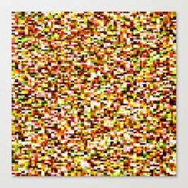 Red yellow pixel noise static pattern Canvas Print
