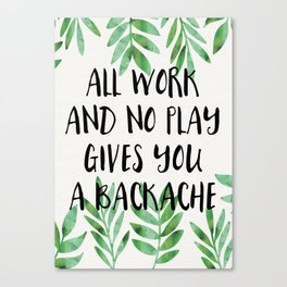 Backache Canvas Print