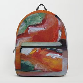 Food, fruit, persimmon, sweet, taste Backpack