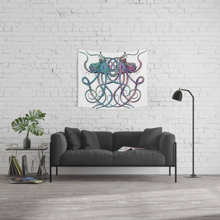 Underwater Love Wall Tapestry