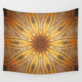 Bright Antique Gold Mandala Wall Tapestry