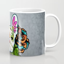 French Bulldog in White - Day of the Dead Sugar Skull Dog Coffee Mug
