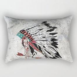 chieftain feather headdress Rectangular Pillow