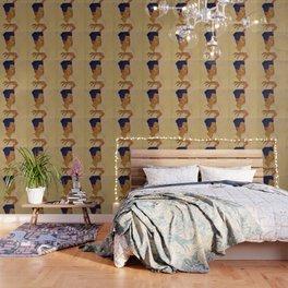 SELF PORTRAIT WITH HANDS ON CHEST - EGON SCHIELE Wallpaper