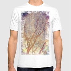 Galaxy + Nature Reflection SMALL White Mens Fitted Tee