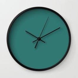 Myrtle Green - solid color Wall Clock