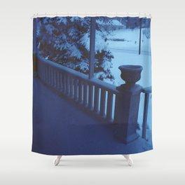 porch snow. Shower Curtain
