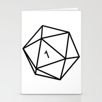 dungeons and dragons Stationery Cards featuring Fumble - Dungeons & Dragons for Dummies by oneeye01