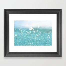 Undersea bubbles Framed Art Print