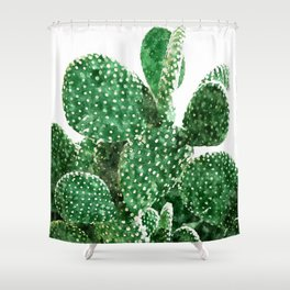 Velvet Cactus Shower Curtain