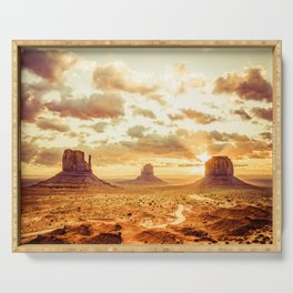 Monument Valley Sunrise Serving Tray