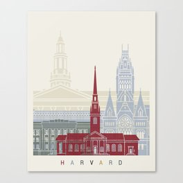 Harvard skyline poster Canvas Print