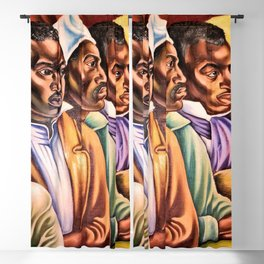 "African American Classical Masterpiece ""Amistad Jury"" by Hale Woodruff Blackout Curtain"