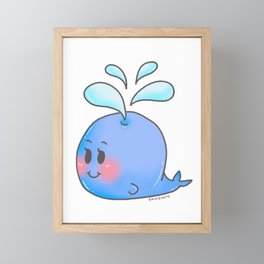 Blue whale tail fin water sea children Gift Framed Mini Art Print