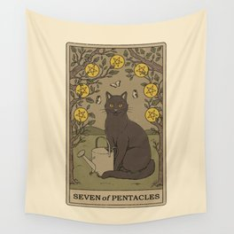 Seven of Pentacles Wall Tapestry