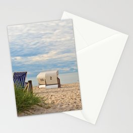 one lonely day at the beach Stationery Cards