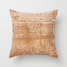 Peach fractals Throw Pillow