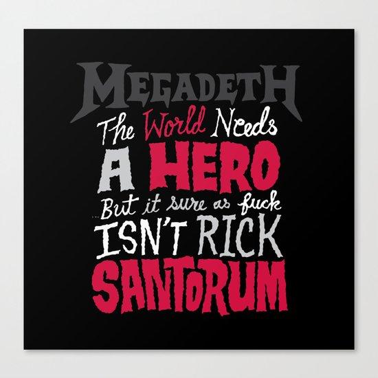 MegaSantorum Canvas Print