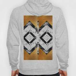Golden foil and marble Hoody