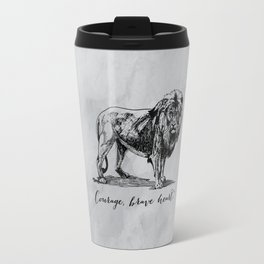 Courage, brave heart - Aslan - Chronicles of Narnia Travel Mug