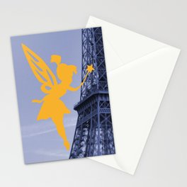 a fairy on the Eiffel Tower Stationery Cards