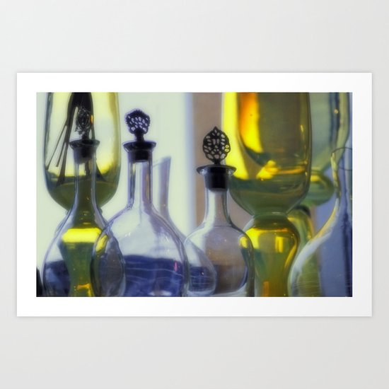 Pastel Glassware Art Print