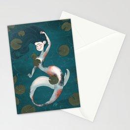 Koi Pond Mermaid Stationery Cards