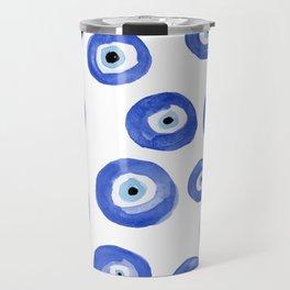 Nazar - Turkish Evil Eye Print Travel Mug