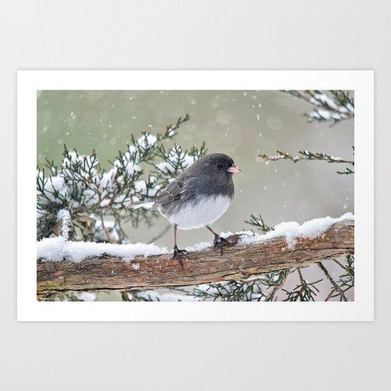 A Small Bird's Strength Art Print