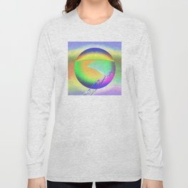 Iceberg A68 - Ultraviolet Satin Long Sleeve T-shirt