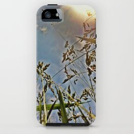 sunset in a wheat field iPhone Case
