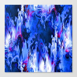 Marshmellow Skies (midnight blue) Canvas Print
