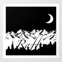 riff raff Art Prints featuring Raff Nights by The Raff